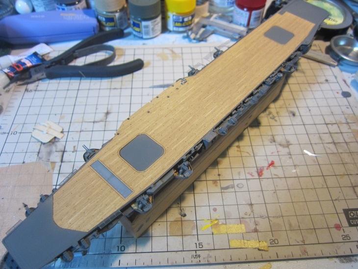 飛鷹木甲板貼り付け