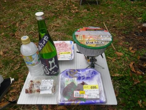 御座松キャンプ場 2016 夕食