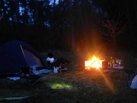 御座松キャンプ場 2016 夜