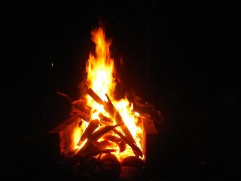 御座松キャンプ場 2016 焚火