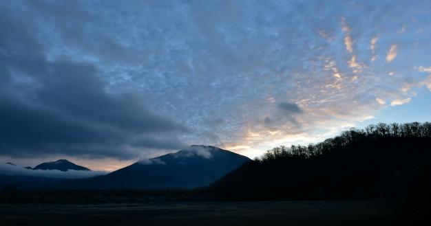 小田代ヶ原 日の出前