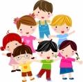 元気な子供が集合したクリップアート_Cute_cartoon_children_characters_vector_イラスト素材6-300x294[1]
