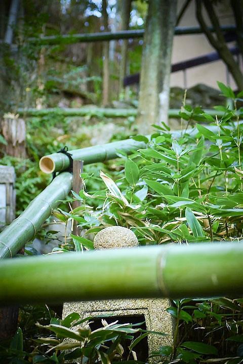 真竹で手すり