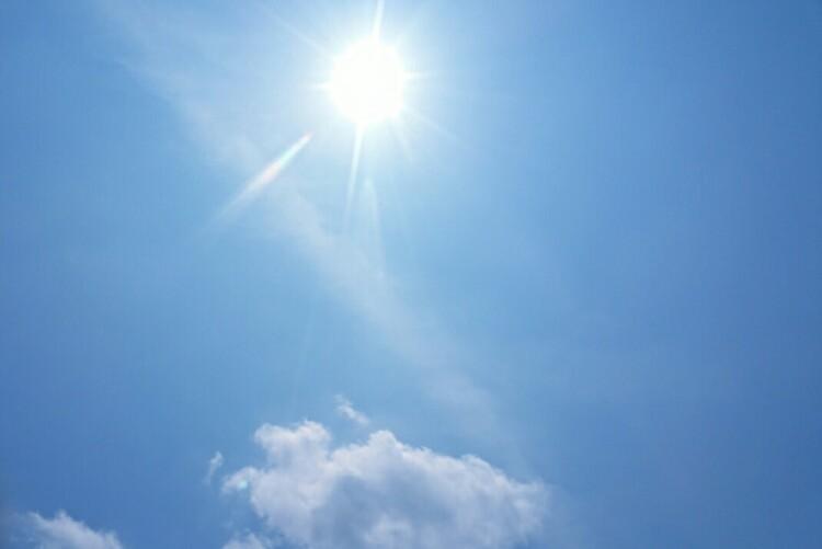 太陽サンサン今日も激アツ!気持ちいいぐらい汗が出る