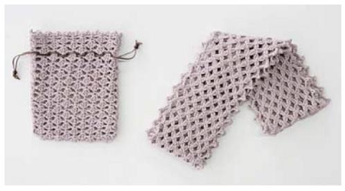 1367zakkaインペリアルシルクコットンをみにょん糸かえストール&巾着