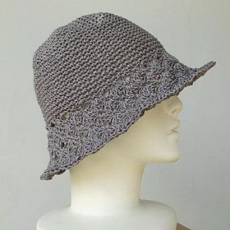 1397ダルマ笹和紙つばが松編み帽子