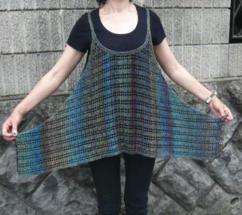 編み物キットかぎ針編みサマーアルチザンチュニック広げて