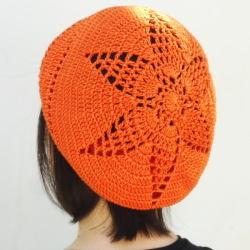 1419ギザ星模様ベレー帽ナナメ