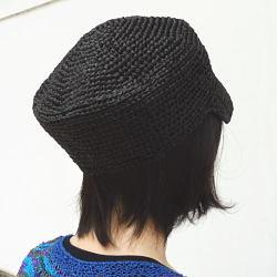 1441スーパー和紙リボンボーイッシュなキャスケット帽