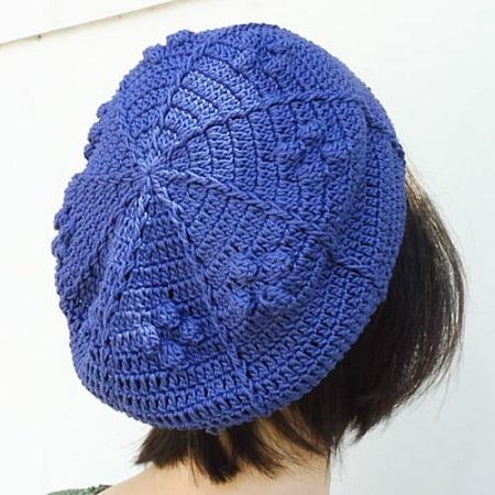 1481ギザパプコーン編みのベレー帽
