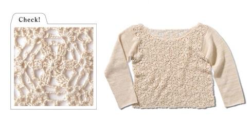 1499ピエロ手織りウールモチーフのセーターカタログ平置き