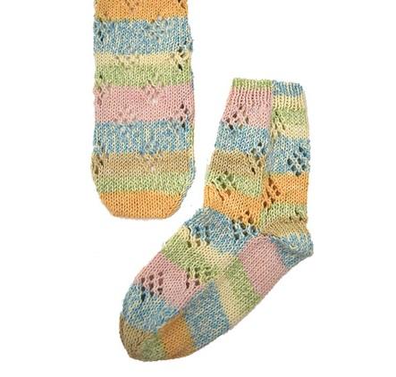 1504ナイフメーラ透かし編みのくつした