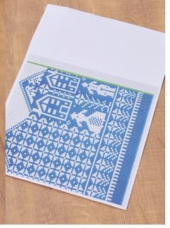 1517北欧ミトン編み図レシピ