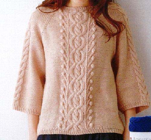 楽天毛糸手編みキットアメリープルオーバー
