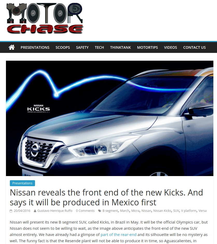 Nissan reveals the front end of the new Kicks
