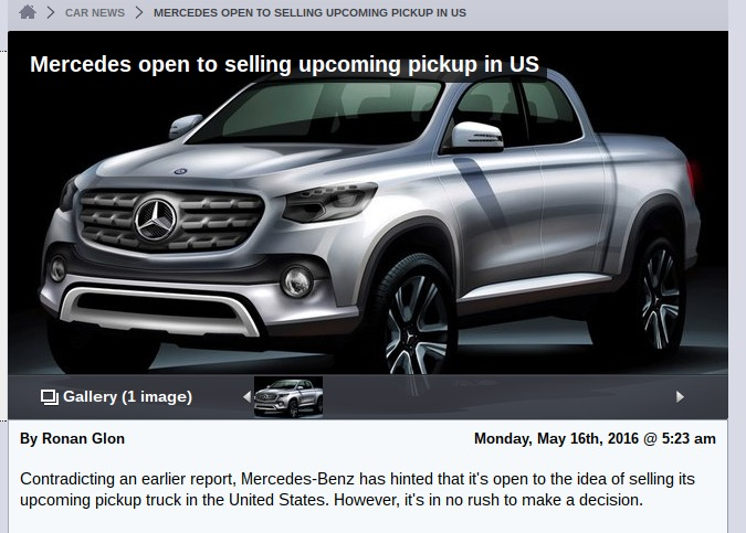 Mercedes open to selling upcoming pickup in US LeftLaneNews