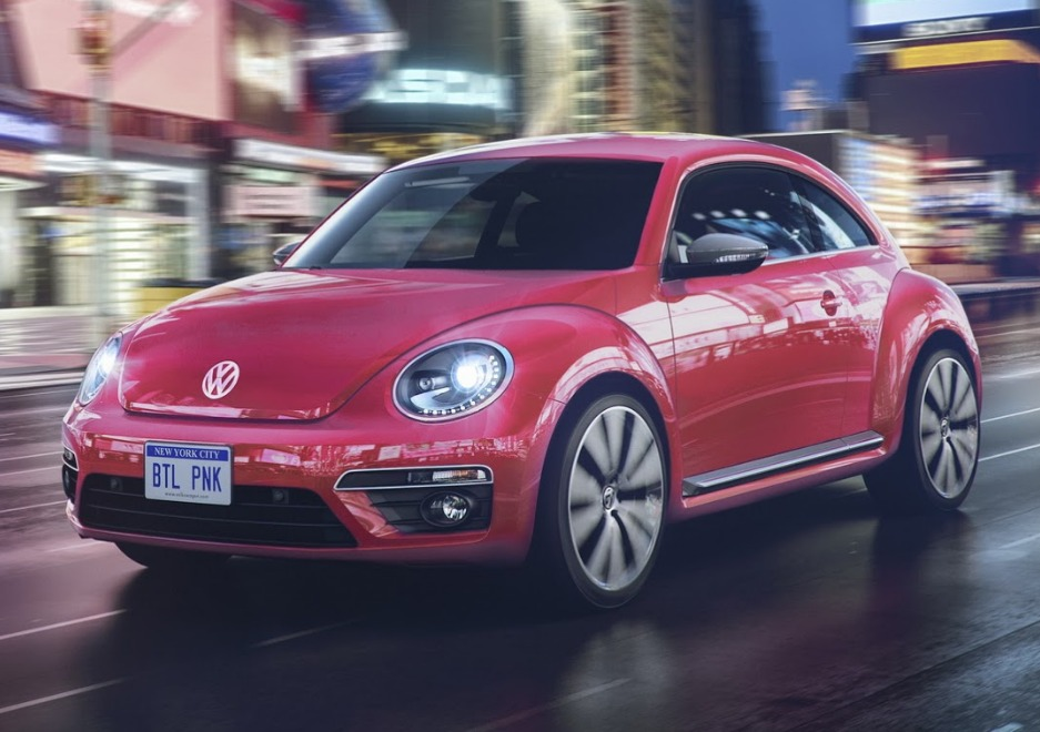 vw beetle pink color edition
