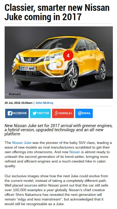 Classier smarter new Nissan Juke coming in 2017 Auto Express