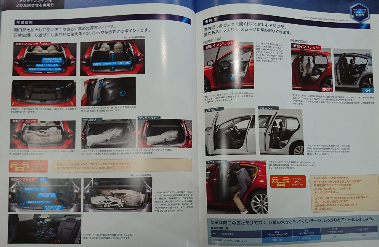スバル 新型インプレッサ カタログ2