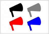 拡声器テンプレート・画像・イラスト