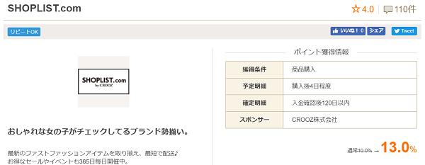 お財布.com SHOPLIST案件