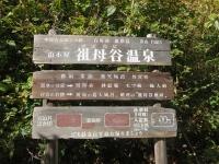 祖母谷温泉の看板
