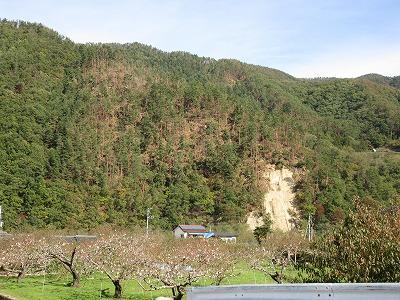 御坂町 土砂災害