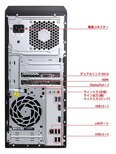 OMEN by HP 870_背面インターフェース