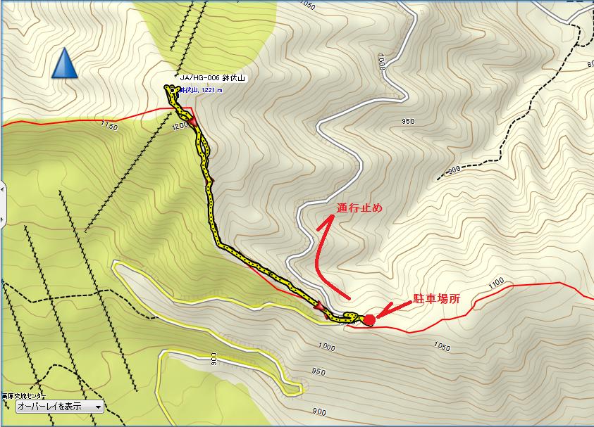 2018鉢伏山/地図
