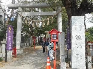 ⑪おおとりまつり 20161016 鴻神社鳥居