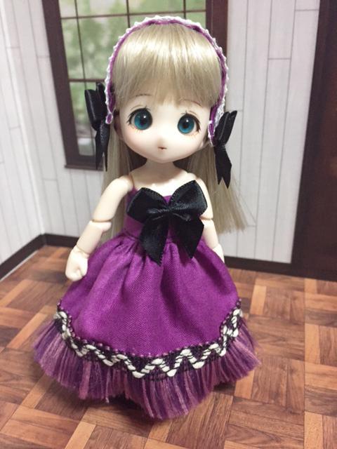 チューブトップドレス 紫