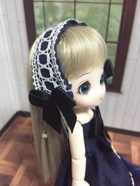チューブトップドレス 紺B