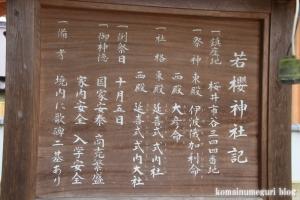 若櫻(わかさ)神社(桜井市谷)6