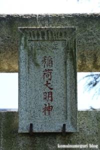 稲荷神社(川越市高島)2
