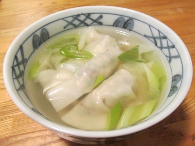 カツオのスープ餃子3