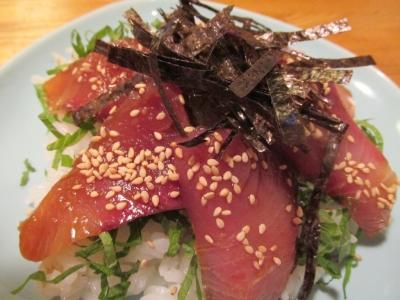 ワラサの手こね寿司生姜醤油2