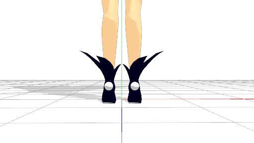 2016/05/14 MMDかずみモデル ブーツ修正後