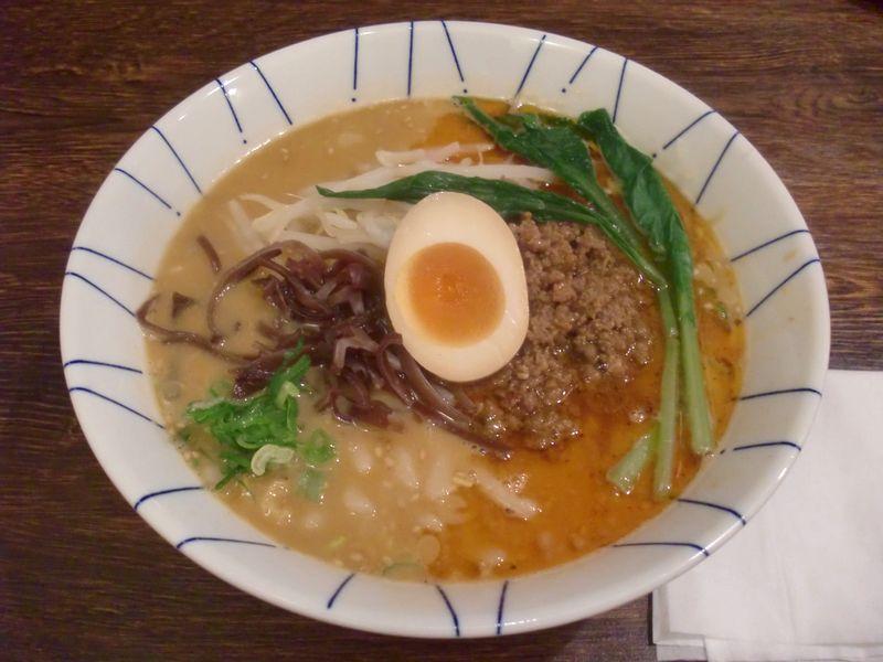 き楽@御成門・20161101・辛味噌担々麺