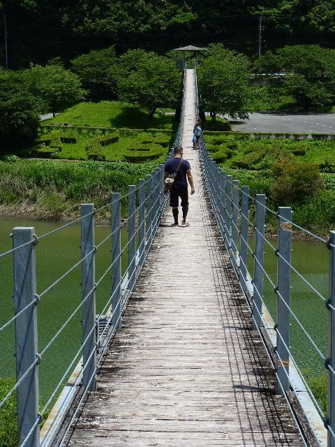 一房ダム 吊り橋