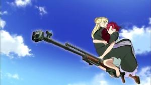 対戦車ライフルに乗った魔女