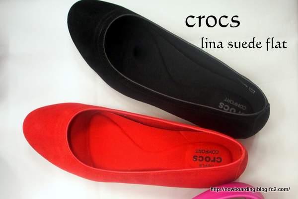 crocs lina suede flat  クロックス リナ スエード フラットウィメン