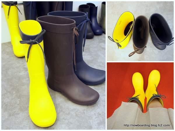 クロックス フリーセイル レイン ブーツ(crocs freesail rain boot w) 着画