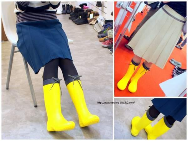 クロックス フリーセイル レイン ブーツ(crocs freesail rain boot w) 着画 長靴