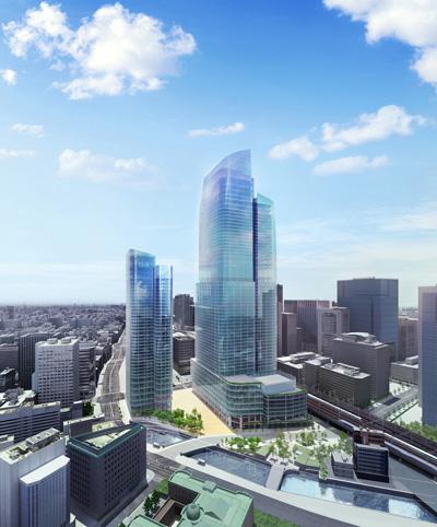 【摩天楼】東京駅前に「390m」日本一となる超高層ビル(61階)の建設、その認可が下りる…2027年完成予定