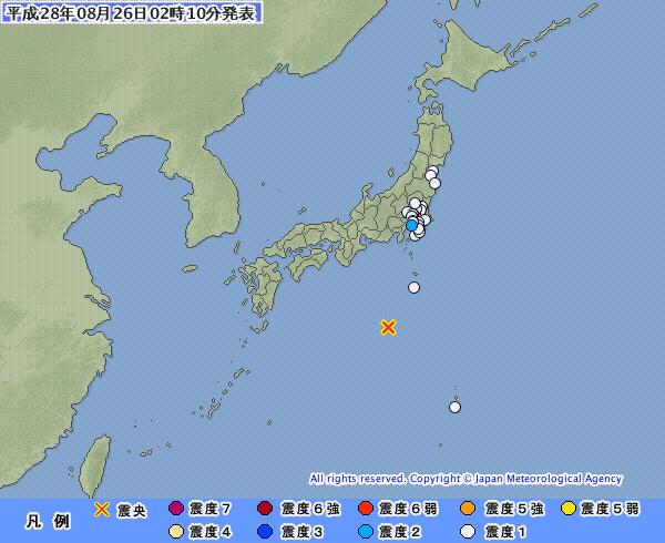 【異常震域】鳥島近海でM6.1の地震発生 震源深さは約490km