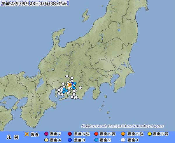 長野県で「最大震度3」 静岡・愛知県で「震度2」 M3.5 震源地は長野県南部 震源深さは約10km