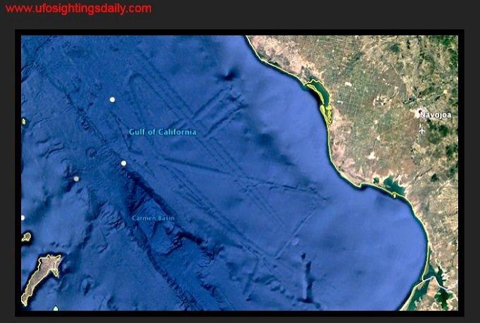 メキシコ・カリフォルニア湾を衛星から見ると海底に「超巨大な都市」が沈んでいるのを発見…古代文明か?それとも、宇宙人の街?