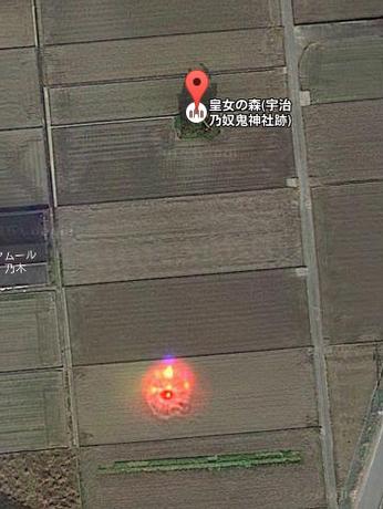 【伊勢神宮】グーグルマップに「謎の赤い光」を発見!場所は「皇女の森」…UFOか?それとも皇女が埋めたとされる「神鏡の光」か