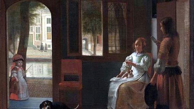 【タイムトラベラー】17世紀の絵画に「スマートフォン」を操作する女性の姿が描かれていた...