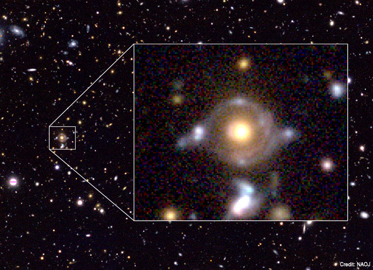 【天空神ホルスの目】古代エジプトの「神の目」に似ている極めて珍しい「重力レンズ天体」を発見